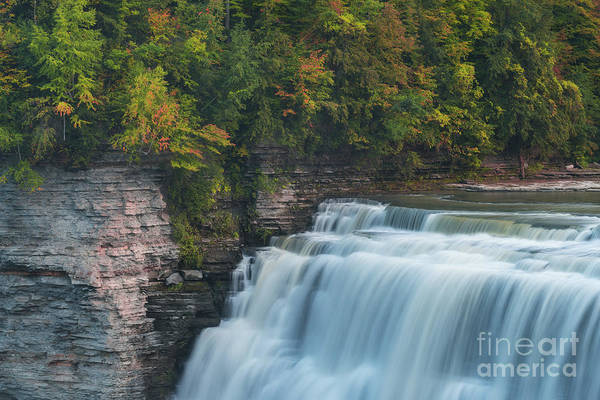 Wall Art - Photograph - Middle Falls At Letchworth State Park by Michael Ver Sprill