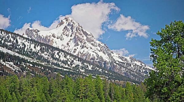 Digital Art - Middle Teton Panorama by Gene Norris