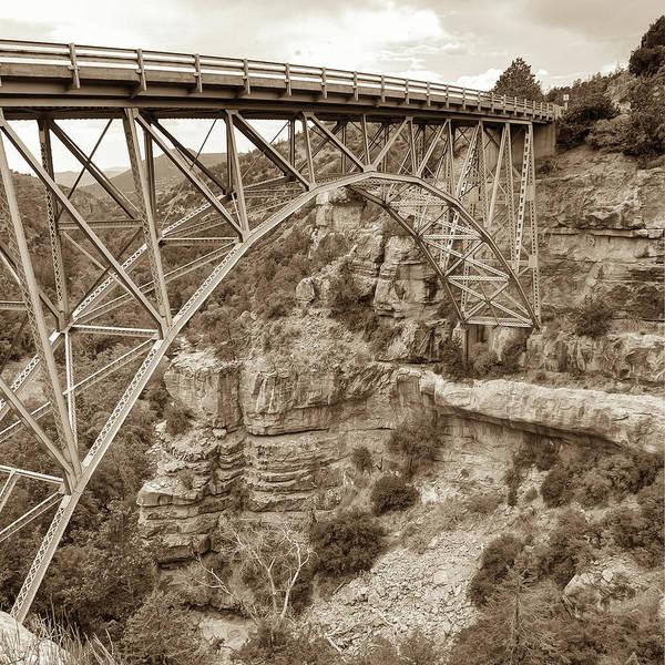 Photograph - Midgley Bridge In Sedona Arizona Sepia - 1x1 by Gregory Ballos