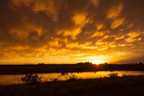 Photograph - Midland Sunset by Brian Grzelewski