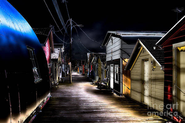 Photograph - Midnight At The Boathouse by William Norton
