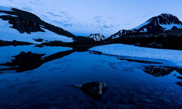 Photograph - Midnight Atop Crow Pass by Tim Newton