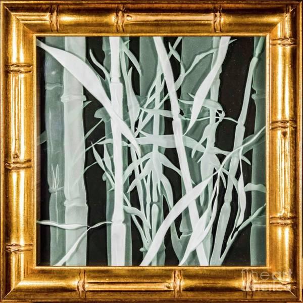Glass Art - Midnight Bamboo by Alone Larsen