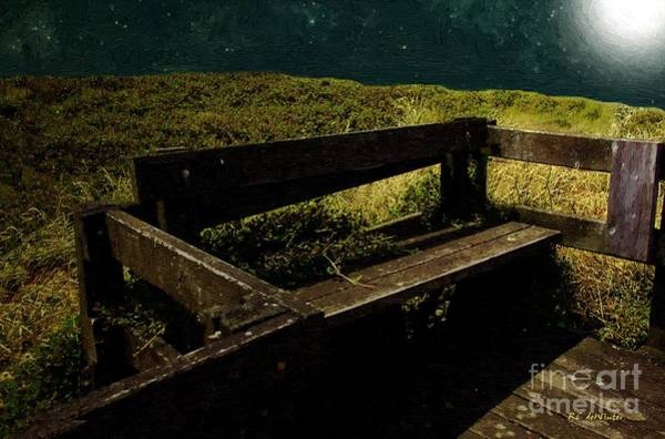 Painting - Midnight Bench by RC DeWinter