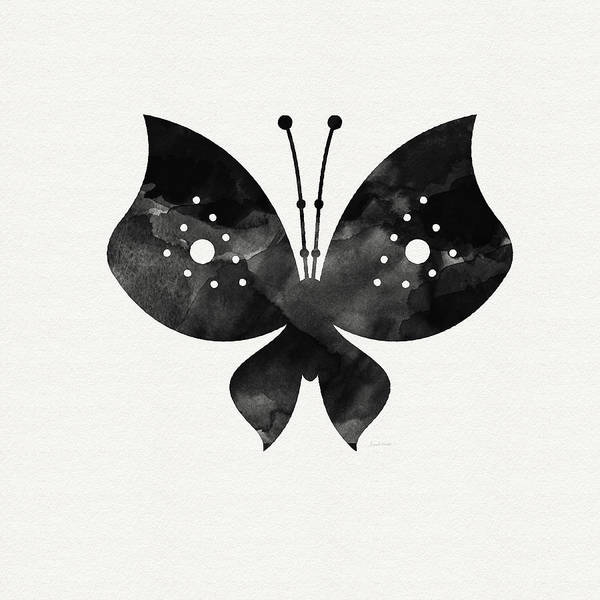 Butterfly Wall Art - Painting - Midnight Butterfly 2- Art By Linda Woods by Linda Woods