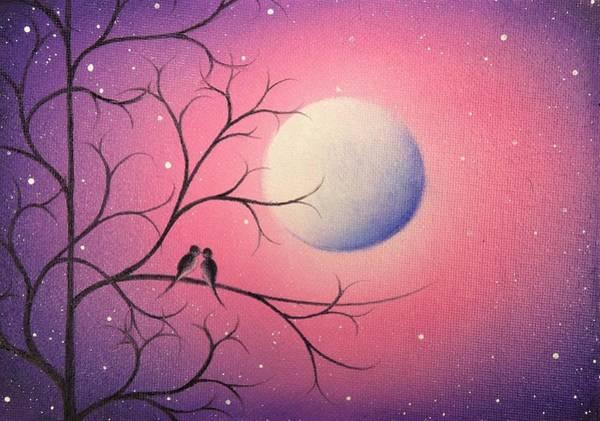 Full Moon Painting - Midnight Callings by Rachel Bingaman