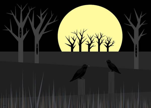 Digital Art - Midnight Conversation by Val Arie