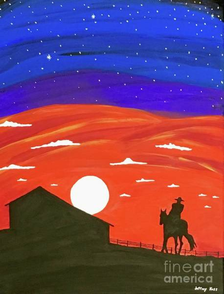 Wall Art - Painting - Midnight Cowboy by Jeffrey Koss