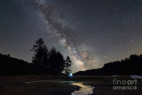Photograph - Midnight Explore At Quabbin Reservoir  by Michael Ver Sprill