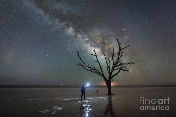 Wall Art - Photograph - Midnight Explorer At Botany Bay Beach by Michael Ver Sprill
