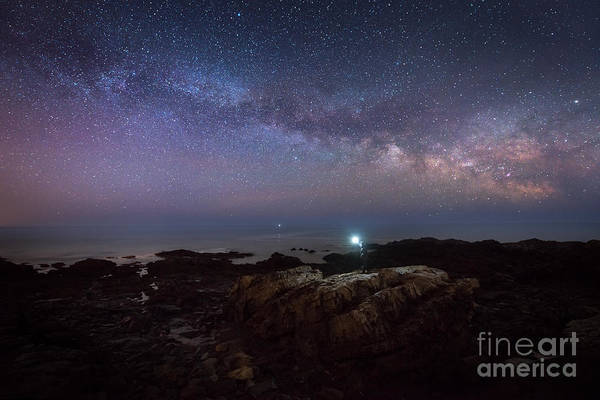 Photograph - Midnight Explorer At Marginal Way Maine  by Michael Ver Sprill