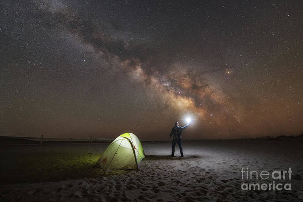 Photograph - Midnight Explorer Camping by Michael Ver Sprill