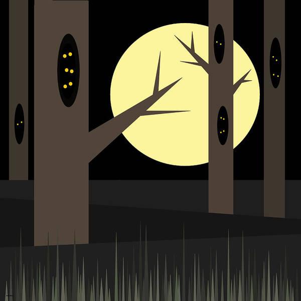Digital Art - Midnight Eyes At Halloween by Val Arie
