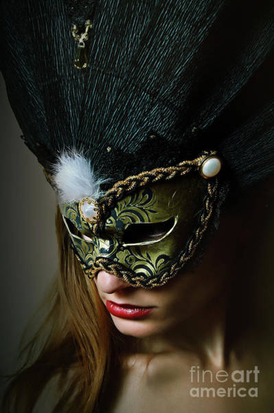 Photograph - Midnight Eyes II Venetian Eye Mask by Dimitar Hristov