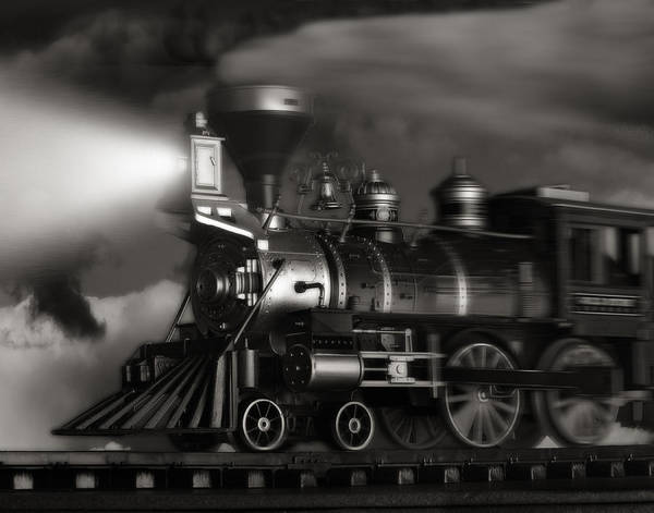 Transport Photograph - Midnight Flyer by Tom Mc Nemar