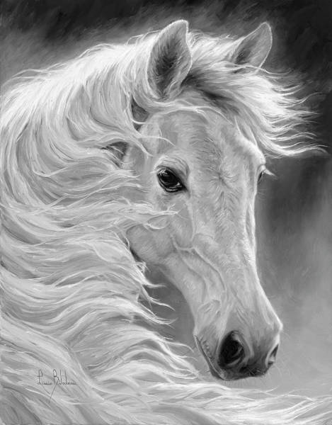 Painting - Midnight Glow - Black And White by Lucie Bilodeau