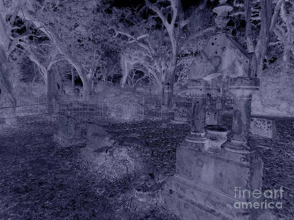 Photograph - Midnight In The Grave Yard by D Hackett
