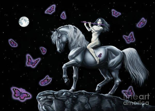 Horsemanship Painting - Midnight by Martina Seketa