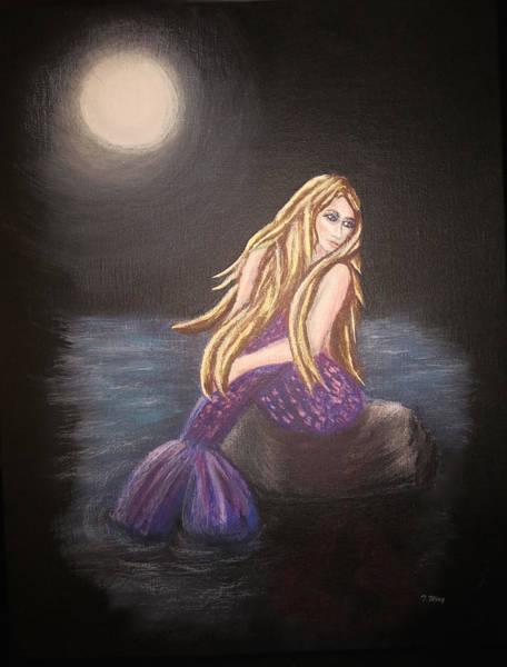 Painting - Midnight Mermaid by Teresa Wing