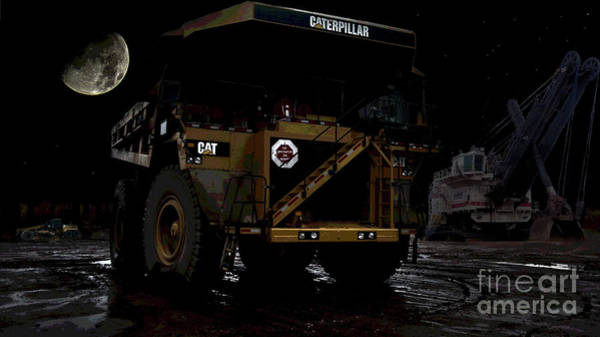Dump Truck Photograph - Midnight Mining by David Parsons