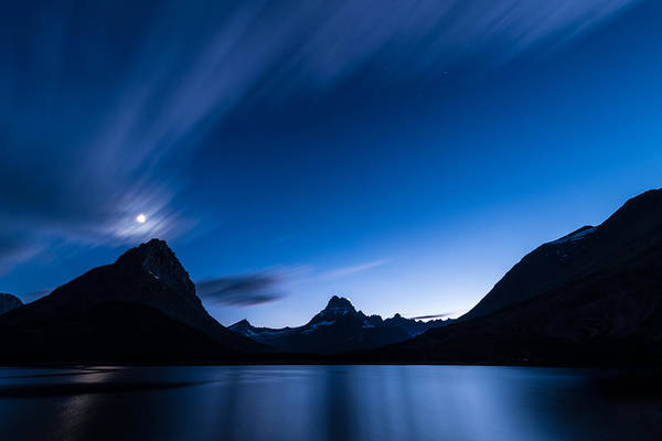 Glacier National Park Photograph - Midnight Over Glacier National Park by Steve Gadomski