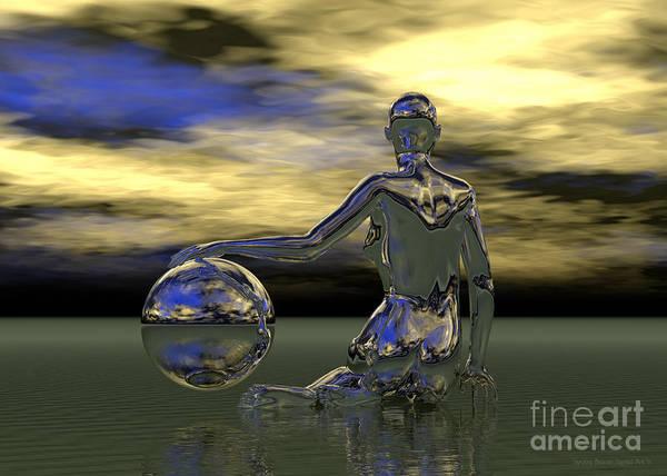 Digital Art - Midnight Rendezvous by Sandra Bauser Digital Art