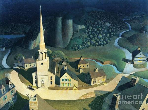 Reproductions Wall Art - Painting - Midnight Ride Of Paul Revere by Pg Reproductions