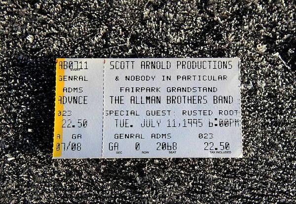 Allman Brothers Band Photograph - Midnight Rider  by Fiona Kennard