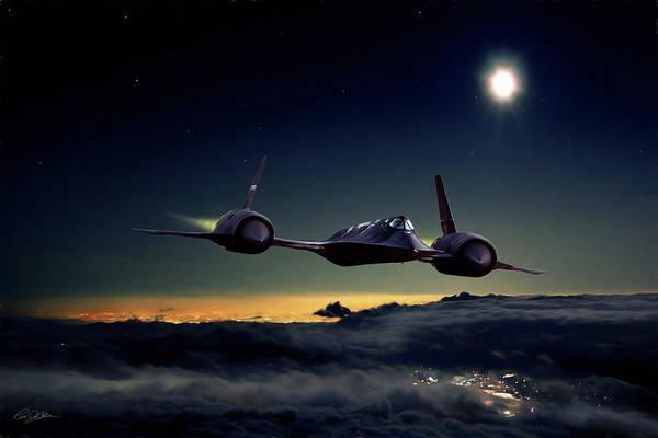Supersonic Speed Wall Art - Digital Art - Midnight Rider by Peter Chilelli