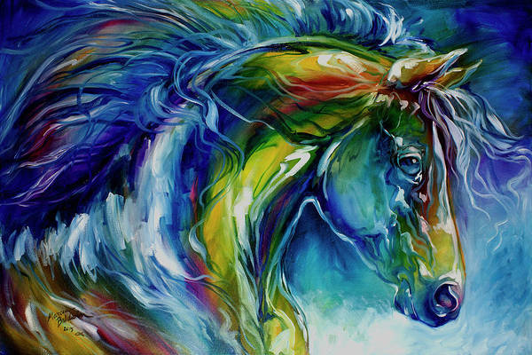 Painting - Midnight Run Equine by Marcia Baldwin