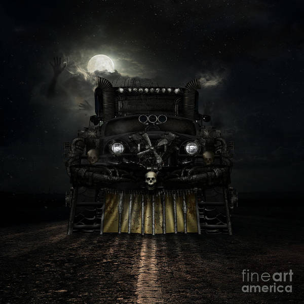 Truck Digital Art - Midnight Run by Shanina Conway