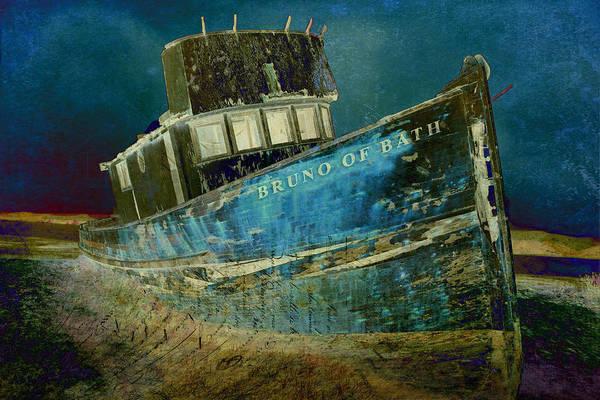 Shipwreck Digital Art - Midnight Shipwreck by Sarah Vernon