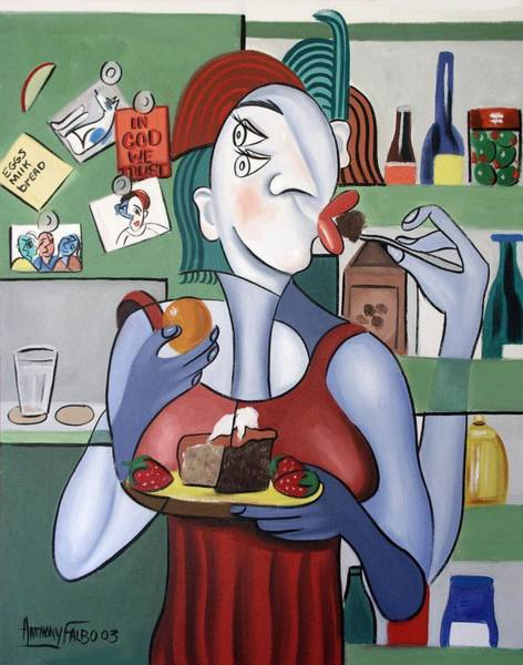 Painting - Midnight Snack by Anthony Falbo