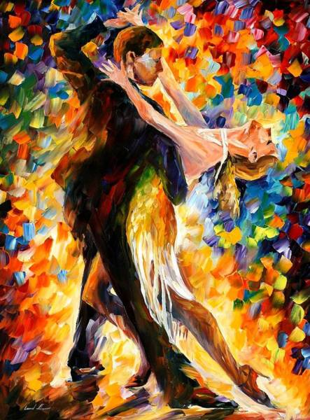 Leonid Wall Art - Painting - Midnight Tango by Leonid Afremov