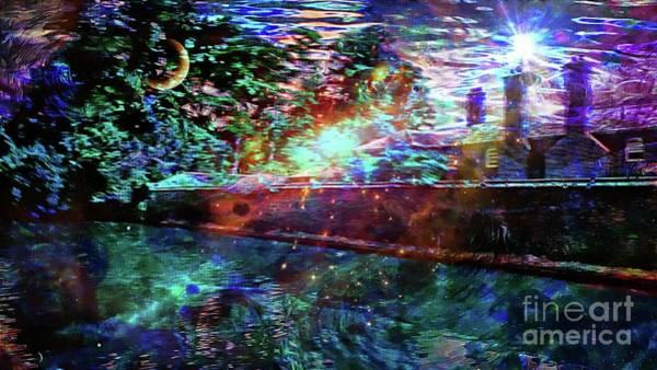 Mixed Media - Midsummer Night At The Manor by Jolanta Anna Karolska