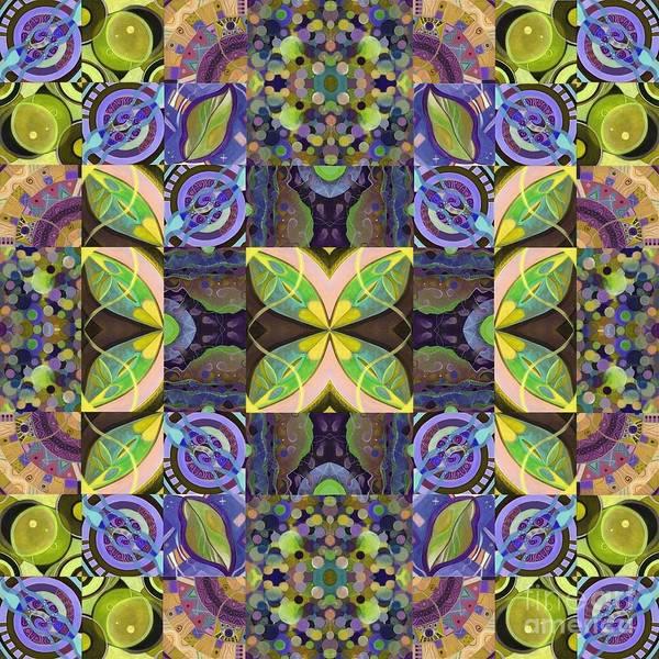 Variation Mixed Media - Midsummer Night Magic - A T J O D Mandala Series Puzzle 7 Arrangement 2 Variation by Helena Tiainen