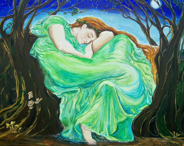 Wall Art - Painting - Midsummer Nights Dream by Diane Sellers