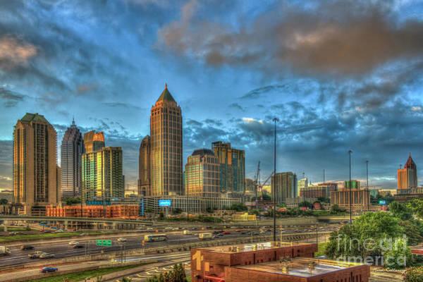 Atlanta Symphony Orchestra Photograph - Midtown Atlanta Sunrise Construction Boom Art by Reid Callaway