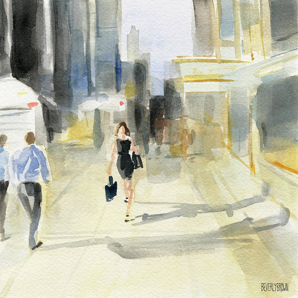 Urban Scene Painting - Midtown Light And Shadows by Beverly Brown
