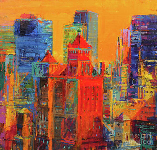 Wall Art - Painting - Midtown Manhattan From The Waldorf by Peter Graham