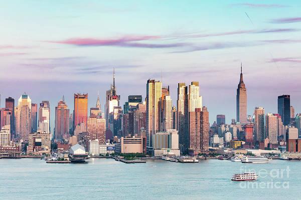 Wall Art - Photograph - Midtown Manhattan Skyline At Sunset, New York City, Usa by Matteo Colombo
