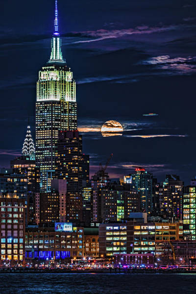 Photograph - Midtown Supermoonrise by Chris Lord