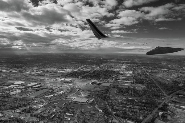 Wall Art - Photograph - Midway Final Approach B W by Steve Gadomski