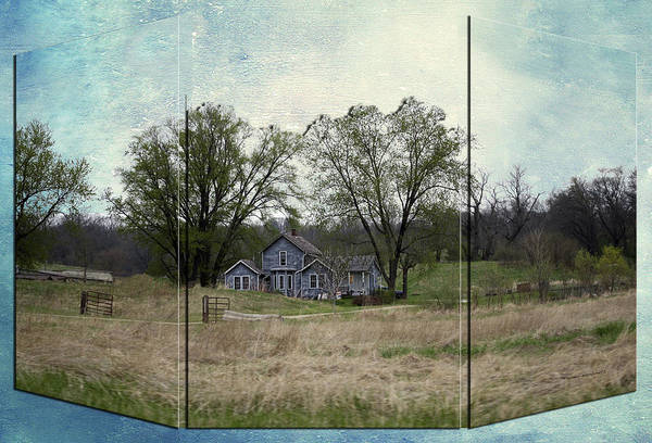 Doona Mixed Media - Midwest Country Living Triptych 3 Panel 03 by Thomas Woolworth