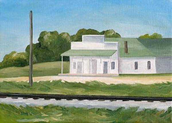 Wall Art - Painting - Midwest Post Office by Lisa Graziotto