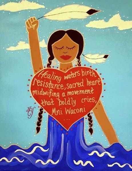 Lakota Painting - Midwives Of Standing Rock by Angela Yarber