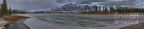 Wall Art - Photograph - Miette Mountains Winter Panorama by Adam Jewell