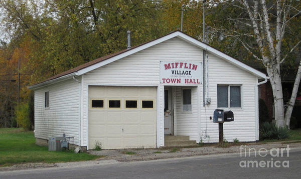 Photograph - Mifflin Town Hall by Kathie Chicoine