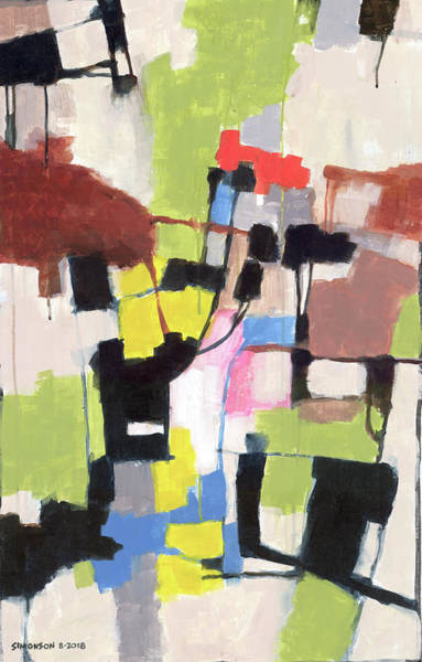 Gestural Painting - Might As Well Be Spring by Douglas Simonson