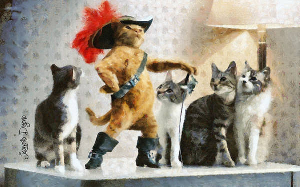 Similar Painting - Mighty Cat With Boots by Leonardo Digenio